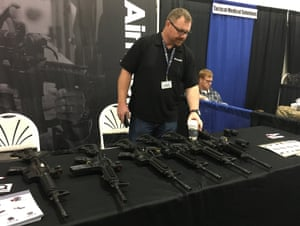 Guns on display at Urban Shield.