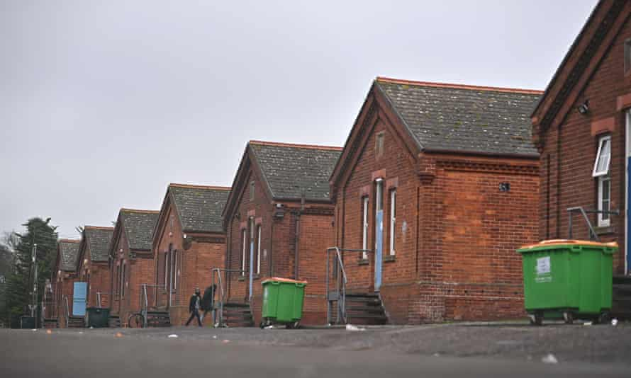 Napier Barracks, a former military site used to house asylum seekers in Folkestone, south-east England.