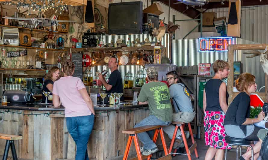 A bar in Boulder, Colorado, where the hippy culture of the 1960s meets the digital revolution.
