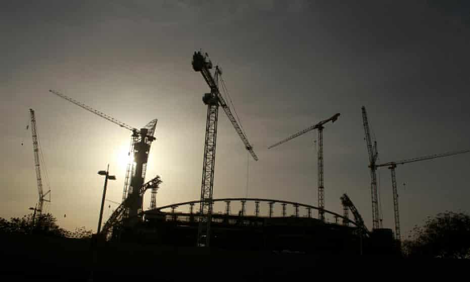A building under construction in Qatar.
