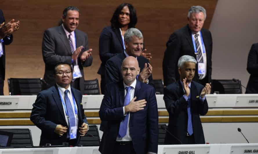 Gianni Infantino wins the Fifa election in February.