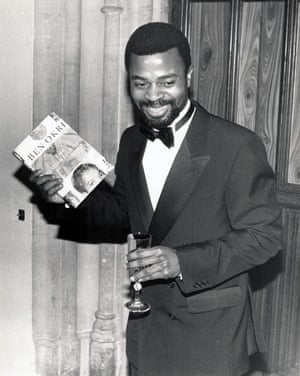 'I wrote like a madman' … Ben Okri wins the Booker prize in 1991.