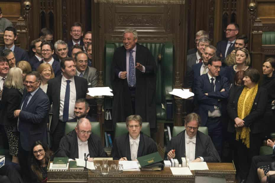 Speaker John Bercow is amused as he addresses MP's in parliament