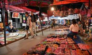 A night market in Luang Prabang.