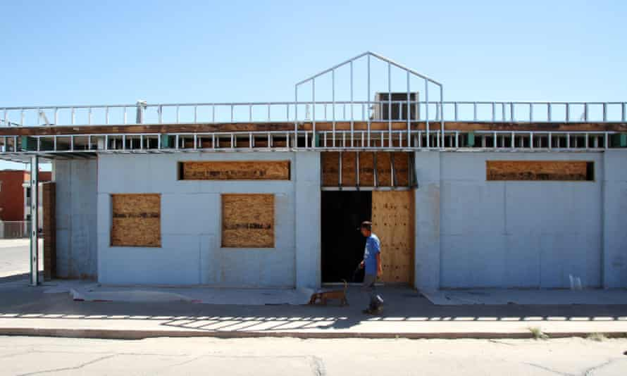 A man walks past the former site of a clinic that offered abortions in El Paso, Texas, in October 2014.