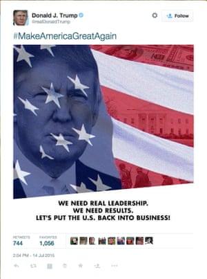 donald trump nazi tweet