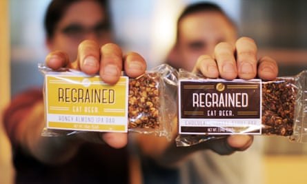 ReGrained snack bars are made from the leftover grains used in the beer brewing process.