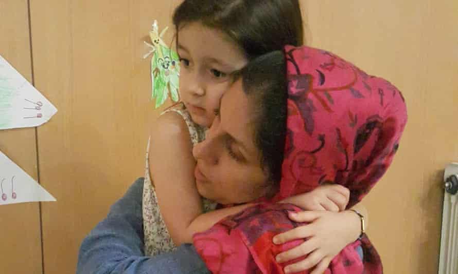 Nazanin Zaghari-Ratcliffe with her daughter
