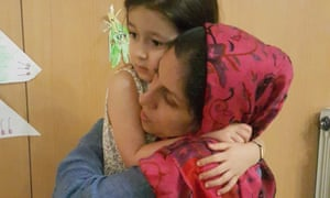 Nazanin Zaghari-Ratcliffe says goodbye to her daughter, Gabriella, after the Iranian authorities ordered her back to prison.