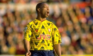 The great Ian Wright in that classic shirt. To think some people didn't like it at the time.