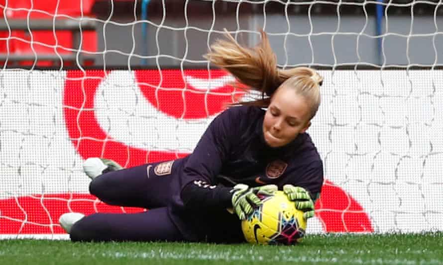England's Ellie Roebuck during training.