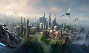 Concept art for Disney's new Star Wars lands