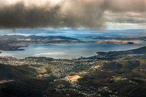 Climb Hobart. Looking out to the Tasman Peninsula.