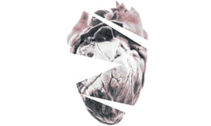 stylised photographic illustration of a human heart