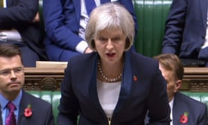 Theresa May in the House of Commons.