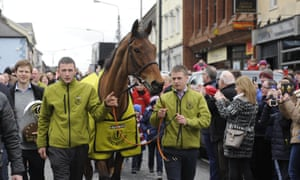 Grand National winner Rule The World is given a big welcome when he is paraded through Mullingar