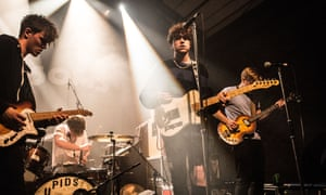 Viola Beach onstage in London, January 2016: 'their obvious pleasure at being in a group pervades every note'.