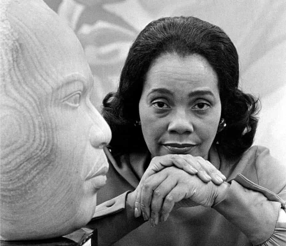 Coretta Scott King, widow of the Rev. Dr. Martin Luther King Jr, in 1975.