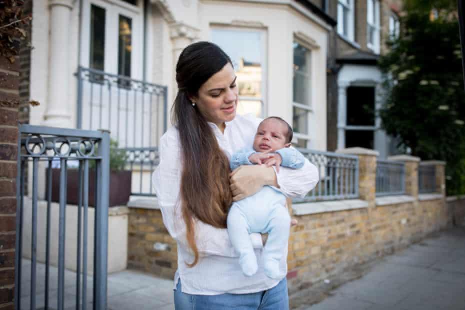 Raquel Ruiz Tognetti and baby