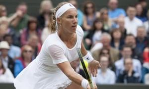 Svetlana Kuznetsova sports a single safety-pin earring.