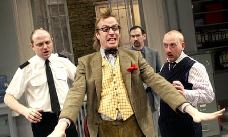 Rhys Ifans (centre) in Accidental Death of an Anarchist in 2003.