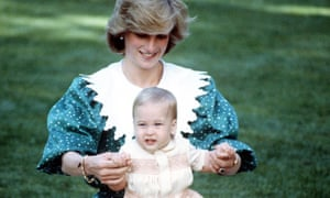 Princess Diana with Prince William in New Zealand, 1983