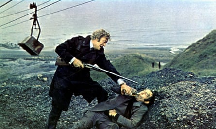 Michael Caine, left, and Ian Hendry in Get Carter, 1971, for which Wolfgang Suschitzky was the cinematographer.