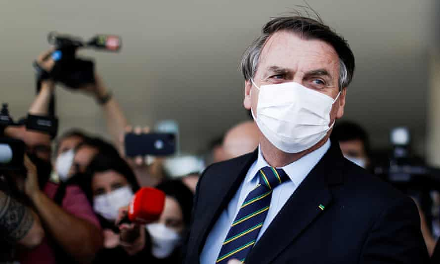 Bolsonaro in March. Brazil's official death toll is more than 345,000.