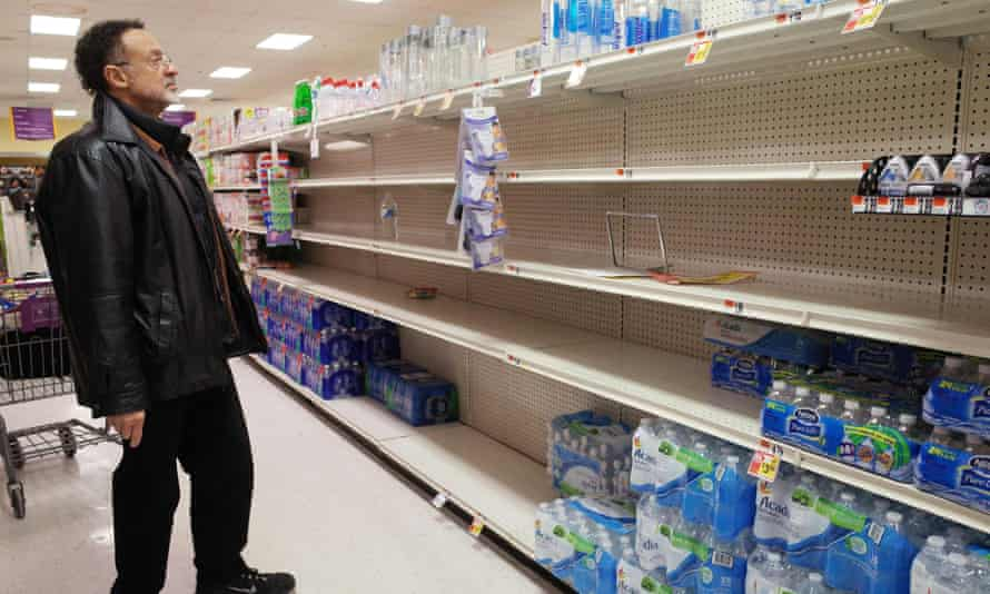 Bottled water is in demand in Washington DC ahead of the storm.