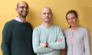 Alessandro Guazzi, Maxim Osipov and Lisa Stroux of Sentimoto.