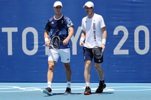 Andy Murray and Joe Salisbury.