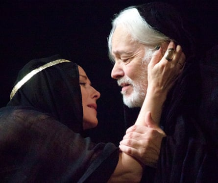 Kim Cattrall and Michael Pennington in Antony and Cleopatra, at the Chichester Festival theatre in 2012.