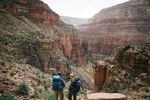 Women walking in the Grand Canyon