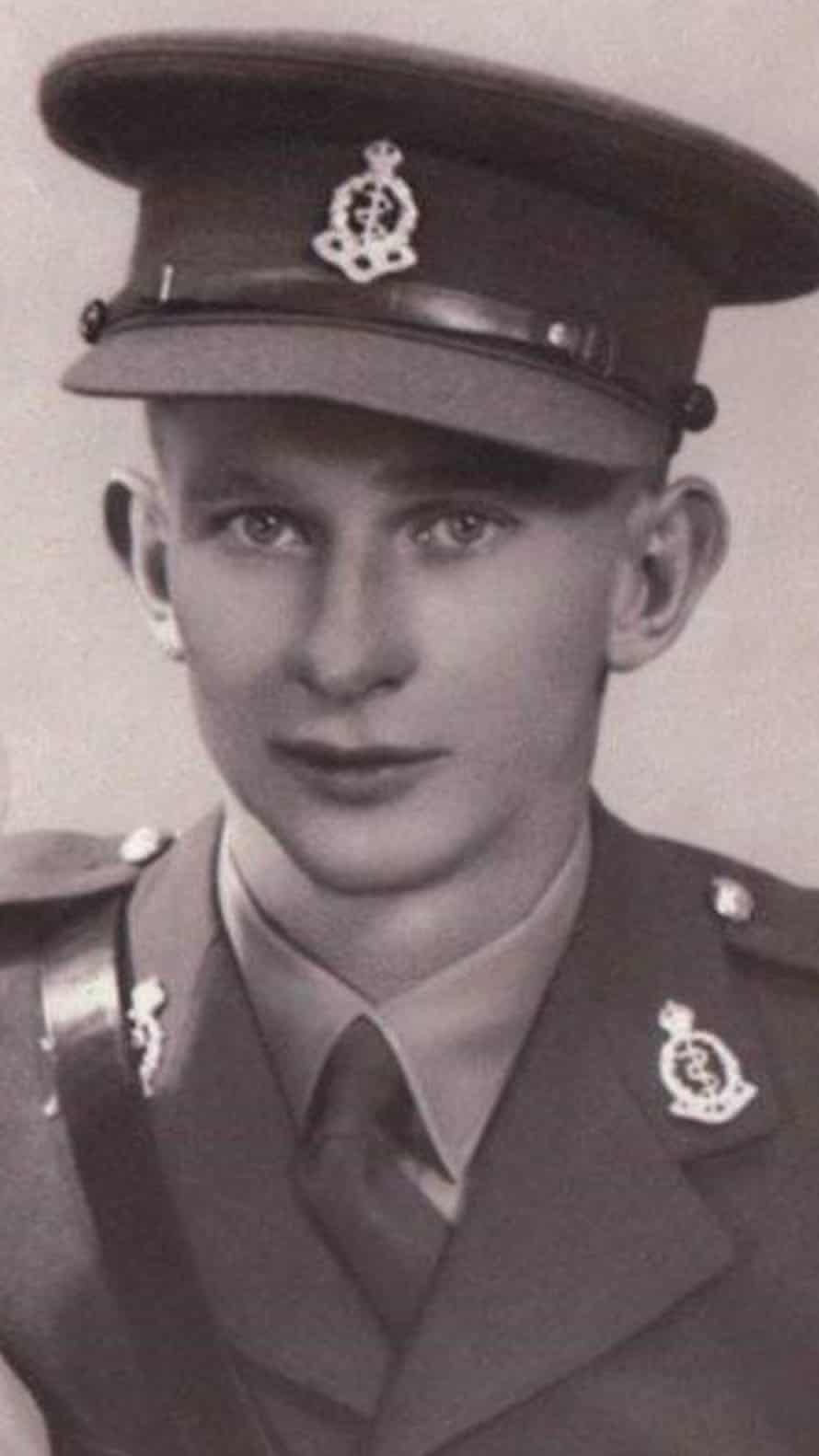 Norman 'Tony' Walker as a young man in uniform