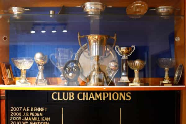 The club's bulging trophy cabinet.