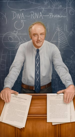 Francis Crick's portrait was unveiled to coincide with what would have been his 100th birthday.