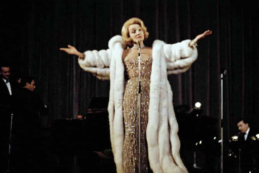Marlene Dietrich performing in 1964.