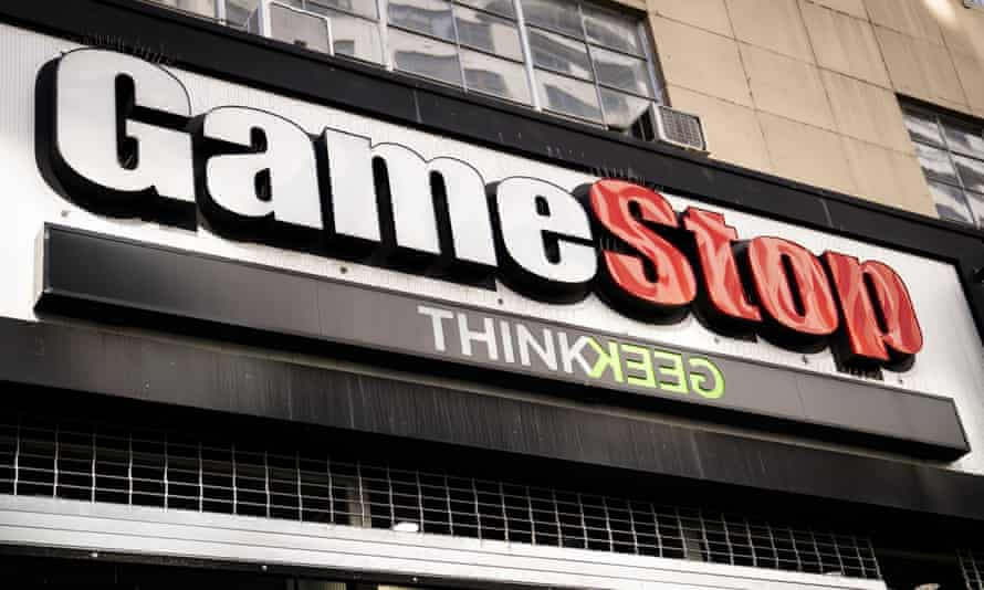 A GameStop store in Manhattan in New York.