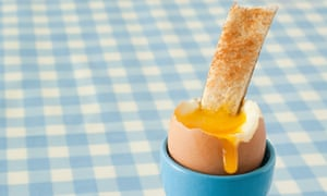 Boiled egg and toast