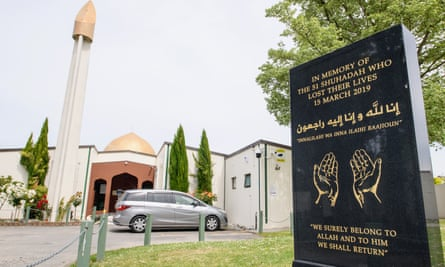 A plaque commemorates the victims of the Christchurch shooting at the Al Noor Mosque in 2019.