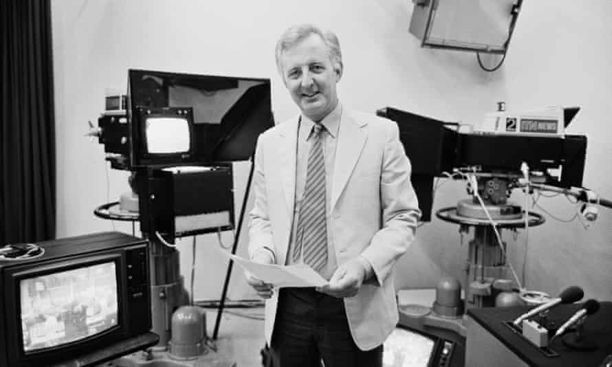 Michael Nicholson at the ITN offices in London in 1984.