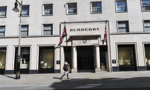 A closed Burberry store in Old Bond Street in London.