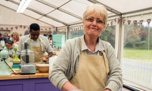 Flo in the Bake Off tent.