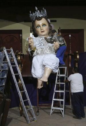 Giant baby Jesus