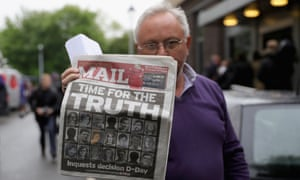 Brian Davis, whose sister Jane was killed in the Birmingham pub bombings, reacts outside Solihull Civic Suite on 1 June 2016 to the news that fresh inquests are to be held into the deaths of the 21 people killed