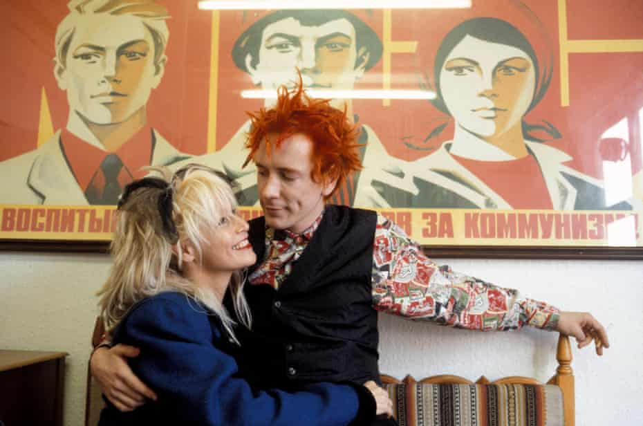 'She will never forget me, and I will never forget her': Lydon with wife, Nora, in 1986