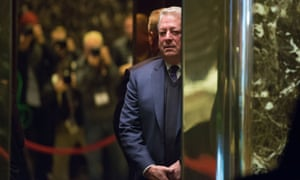 Environmentalist and former US vice president Al Gore at Trump Tower in New York in December last year.