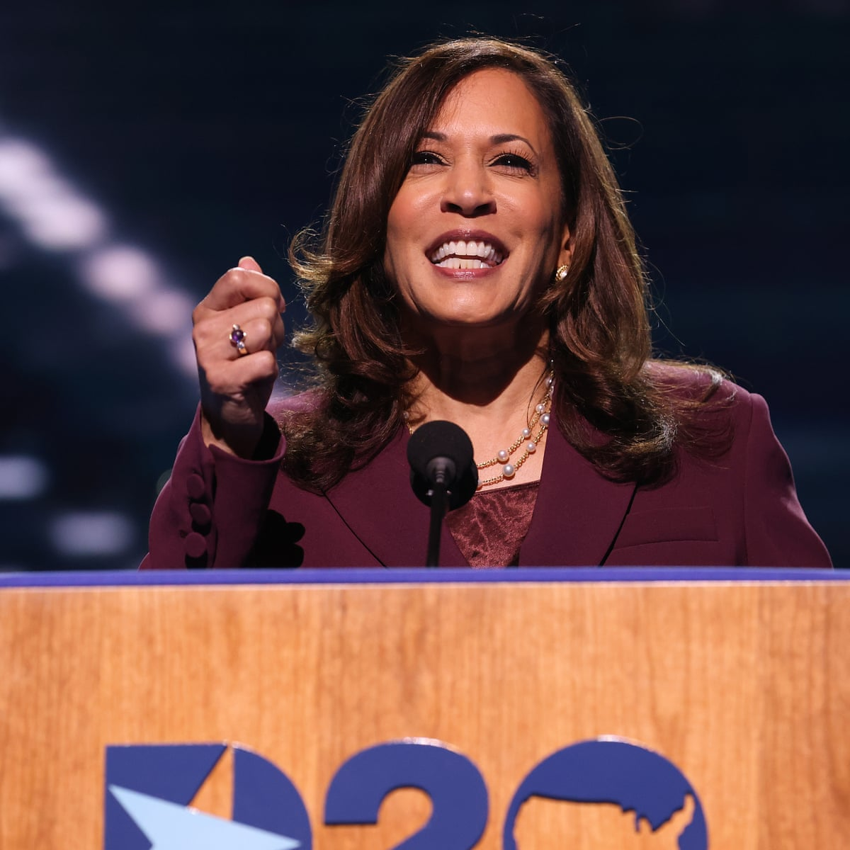 First Thing Kamala Harris Makes History With Democratic Nomination Us News The Guardian