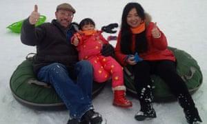 Monte Gisborne, Danni Luo and Qinlin Li in happier times.