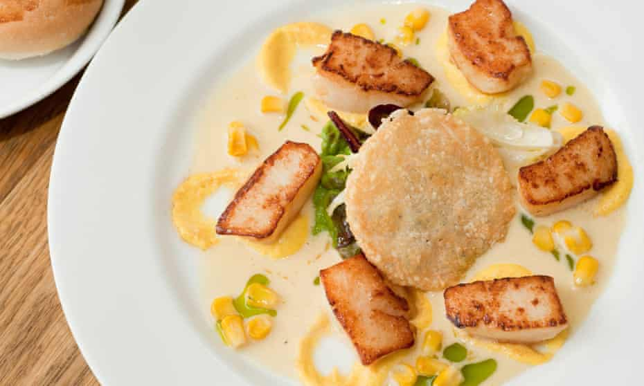 'No such thing as a neutral context' … seared scallops served at the Checkers, a Michelin-starred restaurant in Wales.